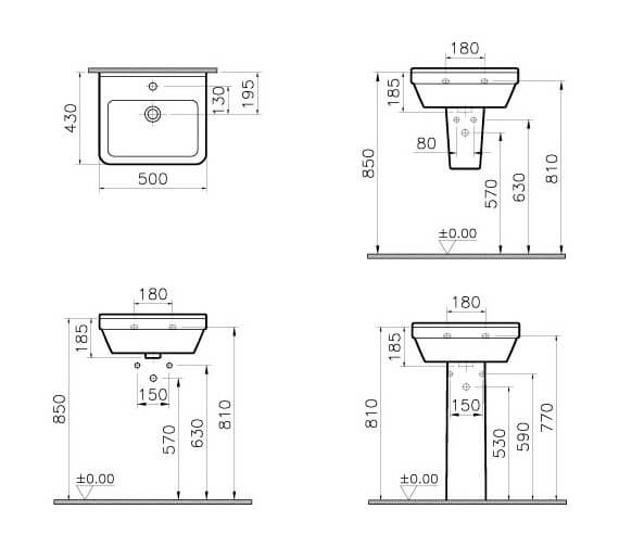 Additional image for QS-V59690 Vitra Bathrooms - 5308L003-0999