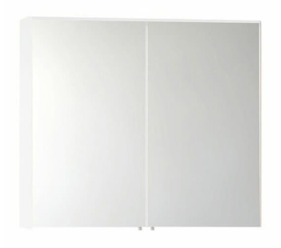 Vitra S50 Classic 1000 x 700mm 2 Door Mirror Cabinet Gloss White