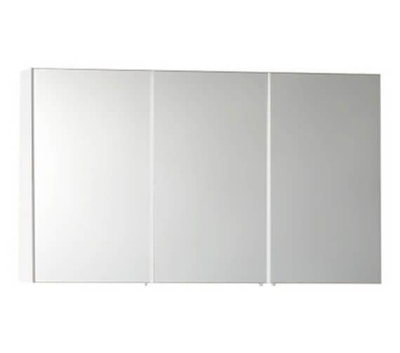 Vitra S50 Classic 1200 x 700mm 3 Door Mirror Cabinet White High Gloss