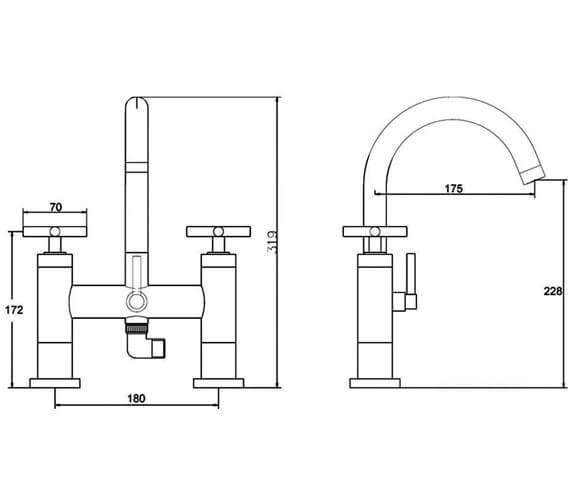 Technical drawing QS-V38788 / TEL354
