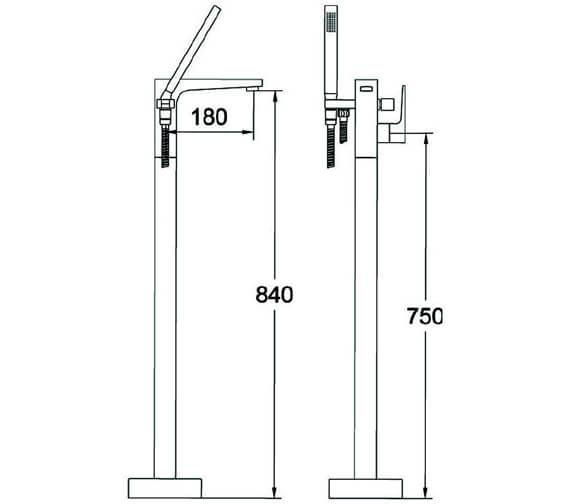 Technical drawing QS-V82023 / THPC171