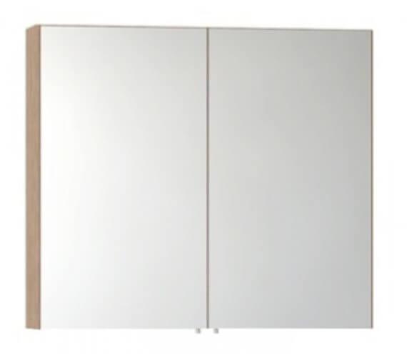 Vitra S50 Classic 800 x 700mm Double Door Mirror Cabinet Oak