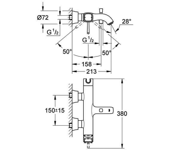 Technical drawing QS-V79498 / 23317000