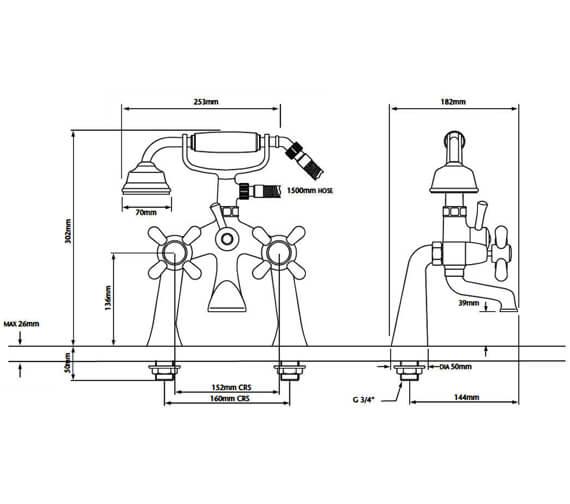 Technical drawing QS-V53308 / TRHC02