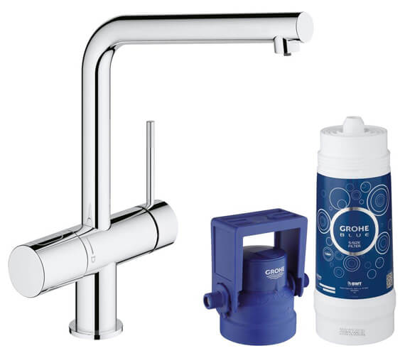 Grohe Blue Minta Single Lever Sink Mixer With Filter Function