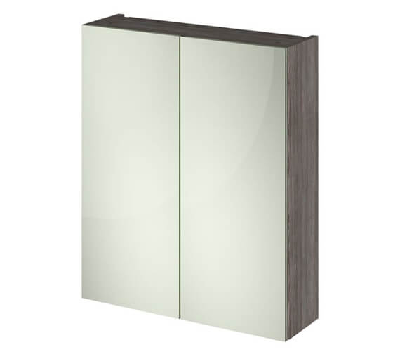 Additional image of Hudson Reed Fusion 600mm Double Door 50-50 Compact Mirror Cabinet