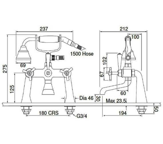 Technical drawing QS-V54901 / TGRDC02