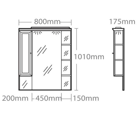 Technical drawing QS-V37818 / CSC800W