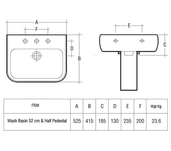 Additional image for QS-V36240 Rak Ceramics - MET52BAS1