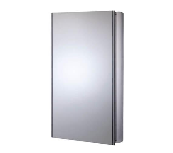 Roper Rhodes Limit 450mm Slimline 1 Door Mirror Cabinet Aluminium