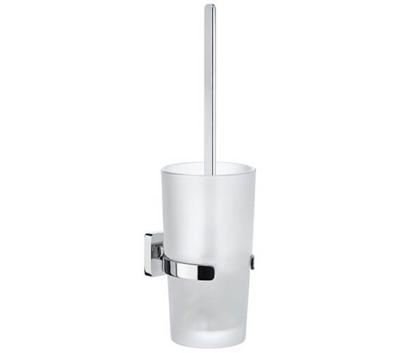 Smedbo Ice Wall Mounted Toilet Brush With Frosted Glass Container