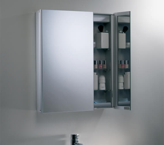 Additional image of Roper Rhodes Refine Slimline Double Door Non Electric Mirror Cabinet - AS615ALSLP