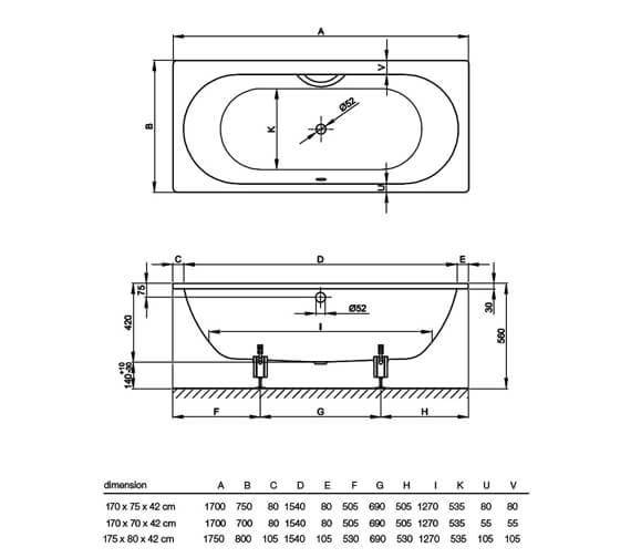 Technical drawing QS-V34618 / 1380 000