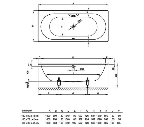 Technical drawing QS-V38415 / 1630 000