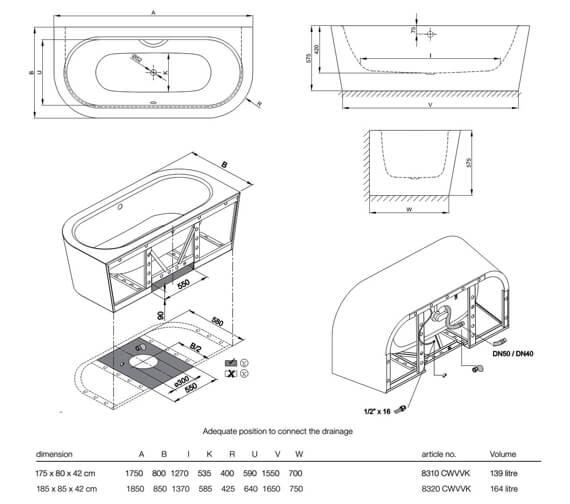 Technical drawing QS-V81992 / 8310 CWVVK