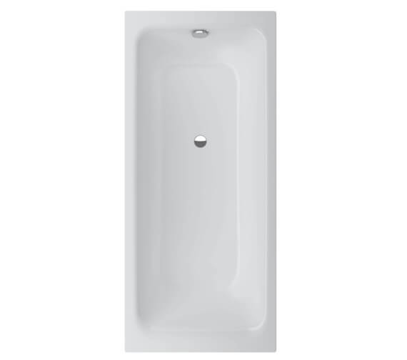 Bette Select Rectangular Steel Bath With Overflow Foot End 1600 x 700mm