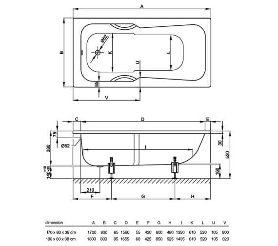 Technical drawing QS-V38453 / 3760 000
