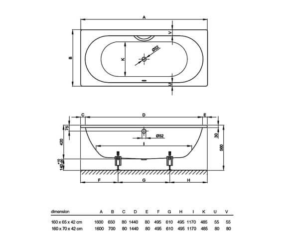 Technical drawing QS-V38450 / 2540 000