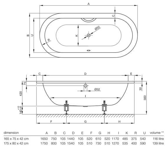 Technical drawing QS-V38418 / 2720 000