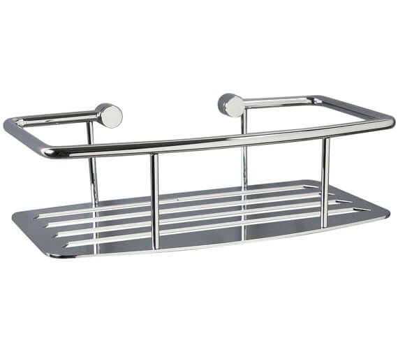 Miller Classic 250mm Single Tier D-Shaped Shower Shelf - Double Tier