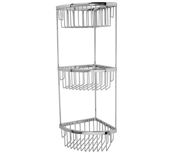 Alternate image of Miller Classic Corner 2 Tier Basket - Three Tier Optional