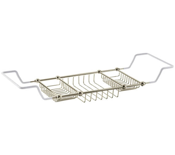 Alternate image of Heritage Chrome Adjustable Bath Rack