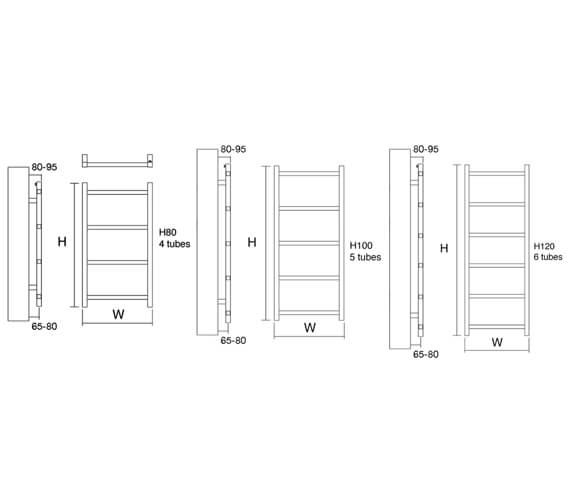 Technical drawing QS-V56143 / Liana 60/80