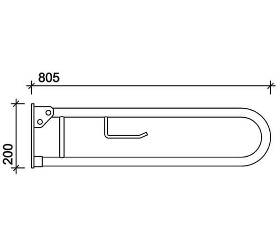Technical drawing QS-V71788 / SR5810WH