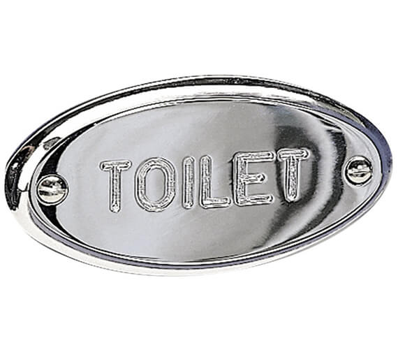 Alternate image of Miller Classic Bathroom Sign - Toilet Sign Variation Optional