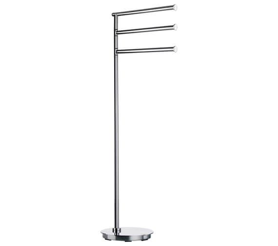 Smedbo Outline Lite Free Standing Triple Towel Rail Base Round