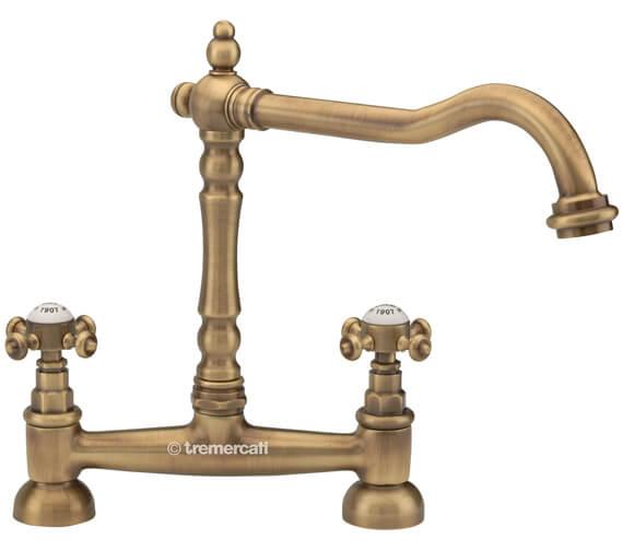 Alternate image of Tre Mercati French Classic Bridge Sink Mixer Tap