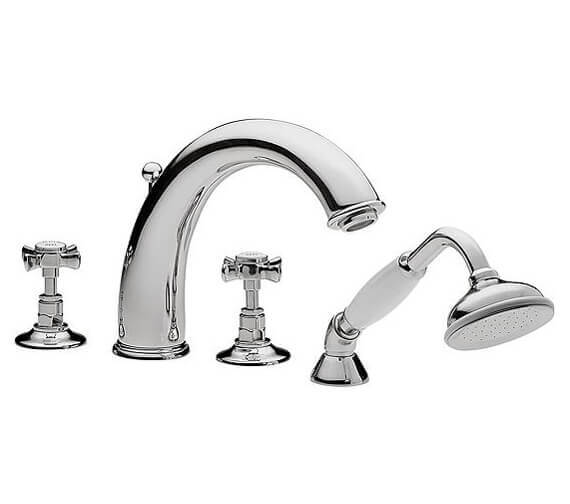 Tre Mercati Imperial 4 Hole Bath Shower Mixer Tap With Kit