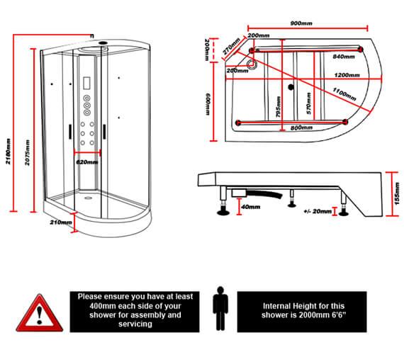 Technical drawing QS-V96016 / INS9002L