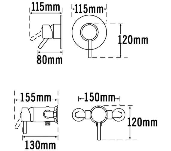 Technical drawing QS-V31282 / 63120
