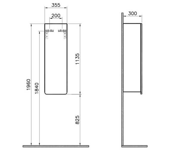 Technical drawing QS-V87204 / 58161