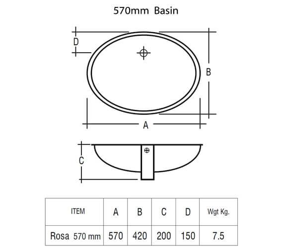 Additional image of Rak Ceramics  ROSAVB50