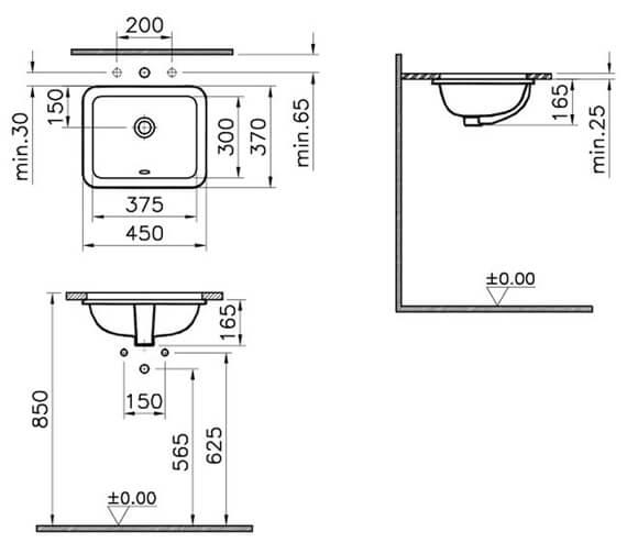 Technical drawing QS-V59806 / 5473B003-0618