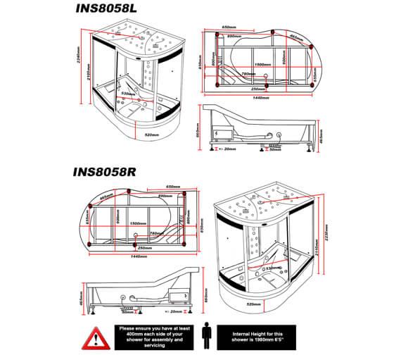 Technical drawing QS-V96020 / INS8058L