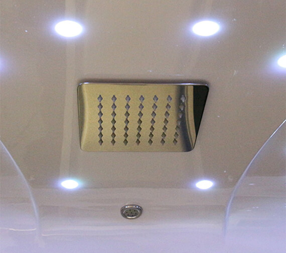Alternate image of Insignia P Shaped 1500 x 900mm Steam Shower Mirrored Left Hand