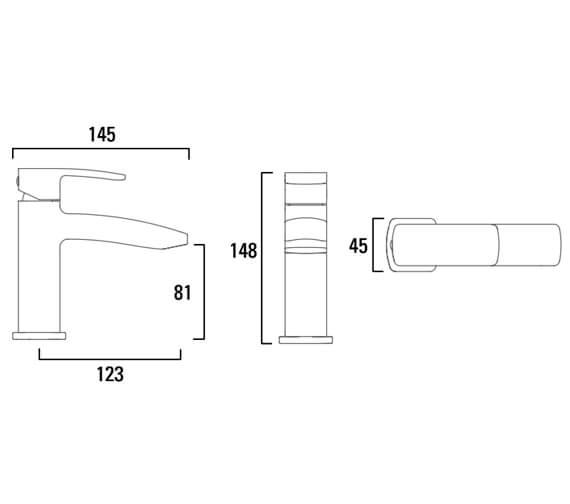Technical drawing QS-V79363 / T206102