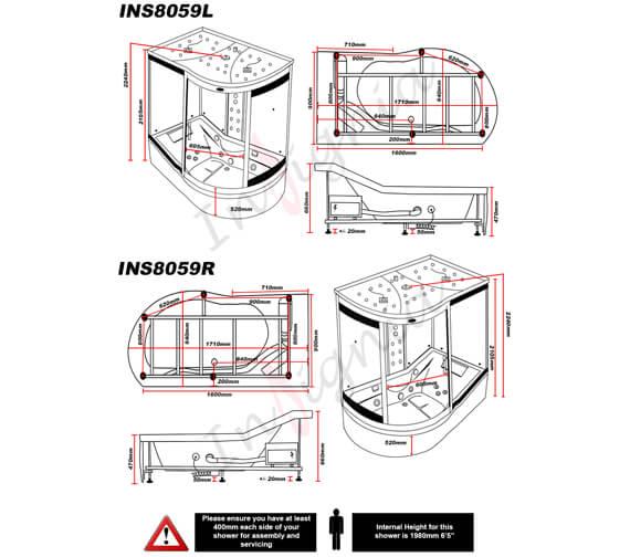 Technical drawing QS-V96021 / INS8059L
