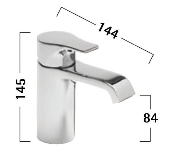 Additional image of Tavistock Blaze Mini Basin Mixer Tap With Click Waste - 122 And 145mm Height Available