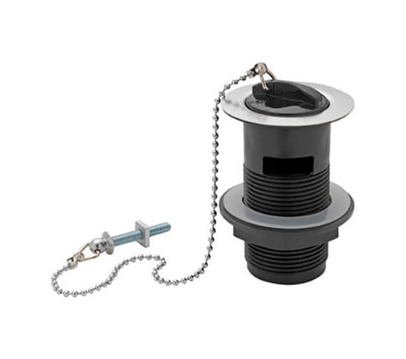 Tre Mercati Plastic Basin Waste With Rubber Plug And Ball Chain