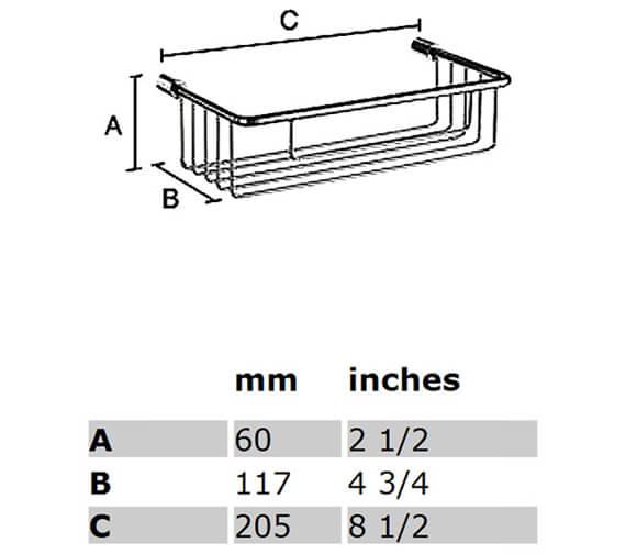 Additional image of Smedbo Sideline Soap Basket Straight 1 Level