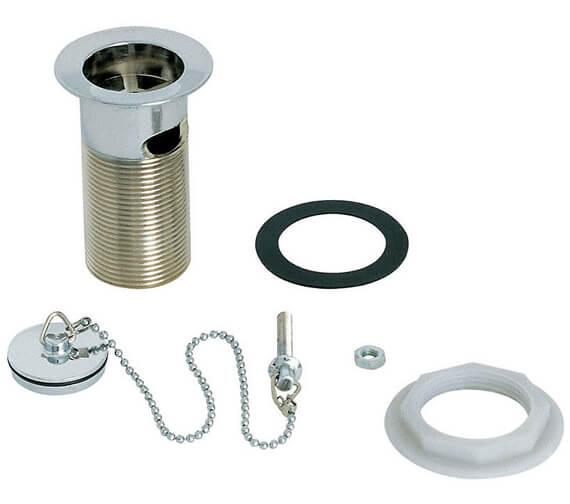 Deva 1 And Quarter Inch Chrome Brass Plug Slotted Basin Waste