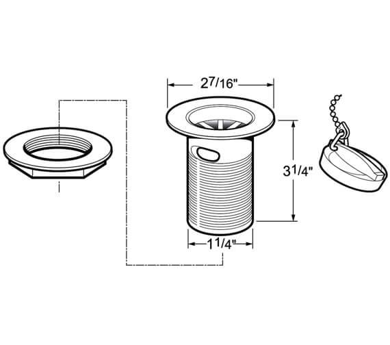 Technical drawing QS-V40790 / DW300/017