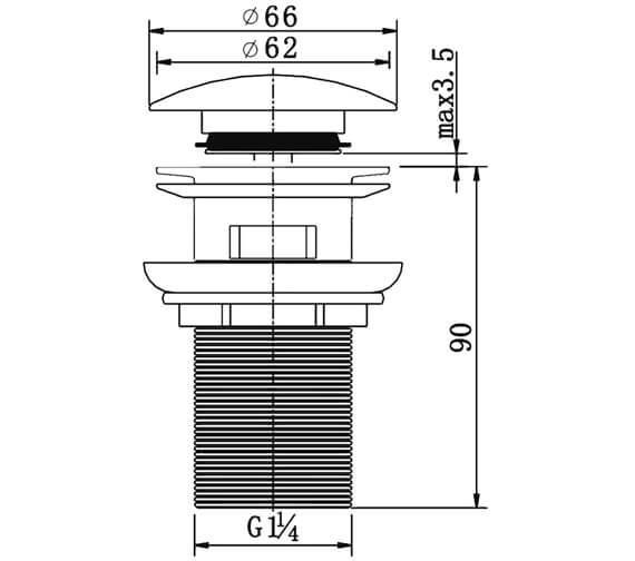 Technical drawing QS-V27293 / CB100