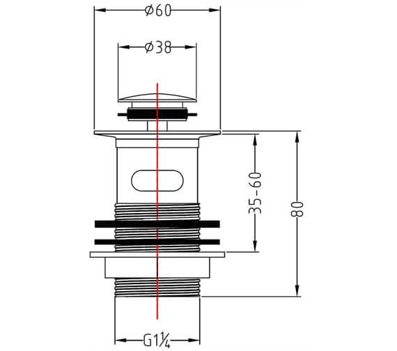 Technical drawing QS-V15260 / CB102