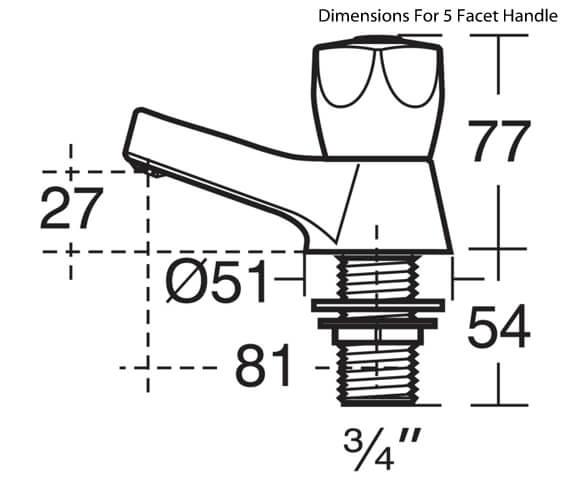 Technical drawing QS-V28855 / B9866AA