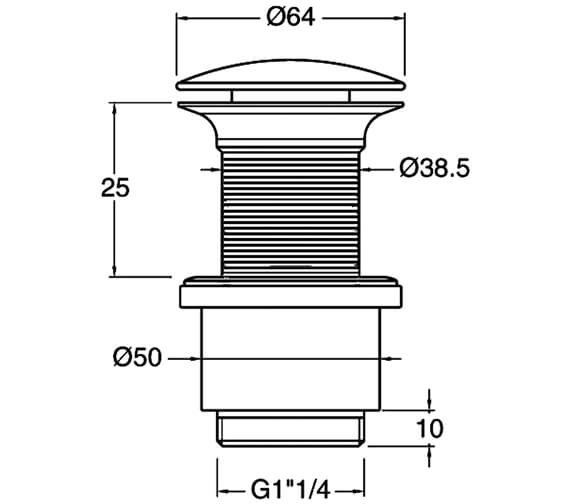 Technical drawing QS-V45325 / BSW0102C